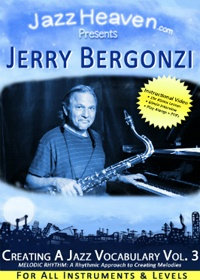 Jerry Bergonzi Creating a Jazz Vocabulary Vol. 3